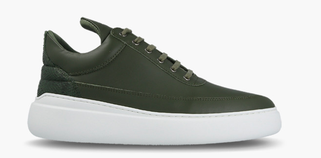 Filling Pieces Low Top Angelica Mix army Green / Dark Green-40 maat 40