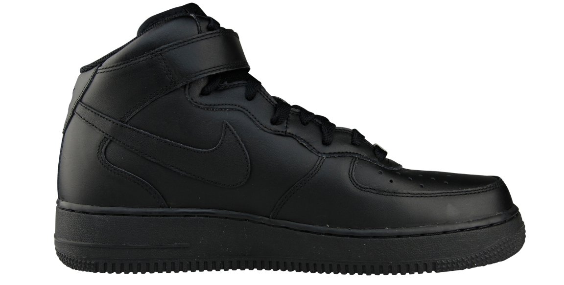Nike Air Force 1 Mid 315123 001 Zwart om te zoenen