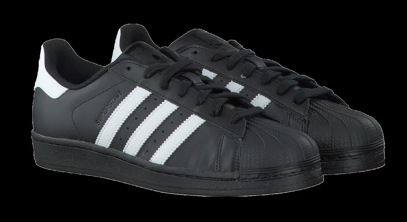 adidas superstar zwart met wit