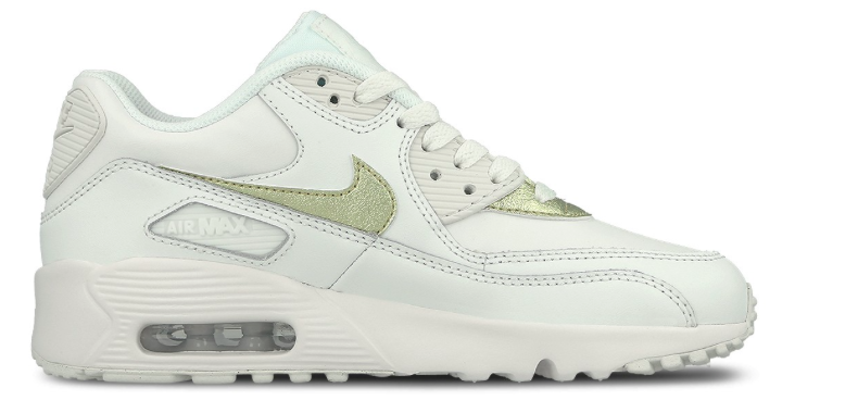 purchase cheap 34781 866a4 Nike Air Max 90 Leather GS 833376-103 Wit