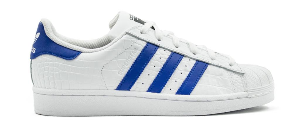 Adidas Superstar Originals BZ0197 Wit Blauw