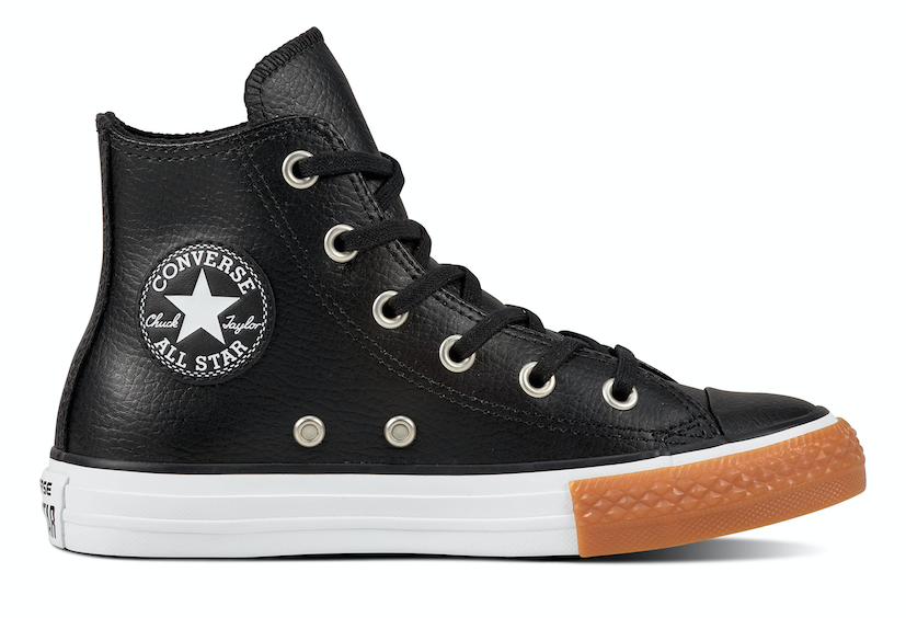 Converse All Stars Kids Leather 661823C Zwart-28 maat 28