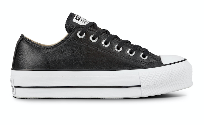 Converse All Stars Lift Clean Leather 561681C Zwart-36