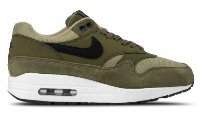 Nike Air Max 1 Canvas 319986-304 Groen-42.5